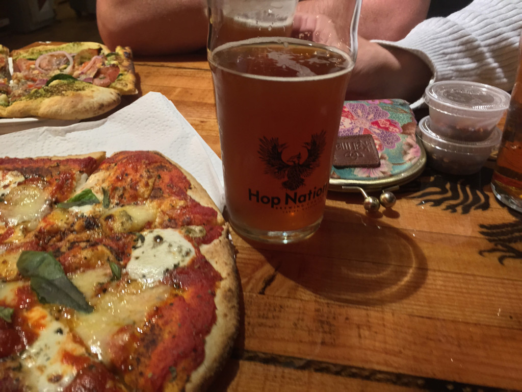 pizza beer table